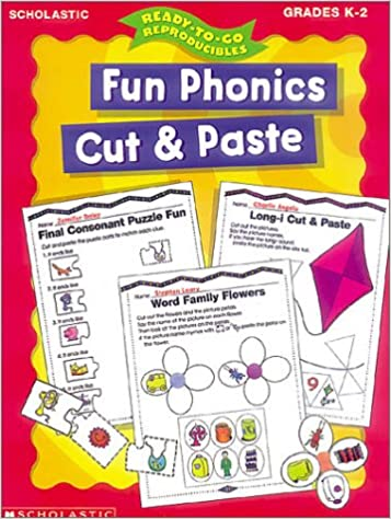 Counting Number worksheets kindergarten cut and paste worksheets free : Amazon.com: Fun Phonics Cut and Paste (Ready-to-Go Reproducibles ...