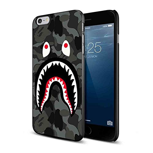 Bape Shark Black Army Pattern for Iphone and Samsung Galaxy Case (iPhone 6 black)