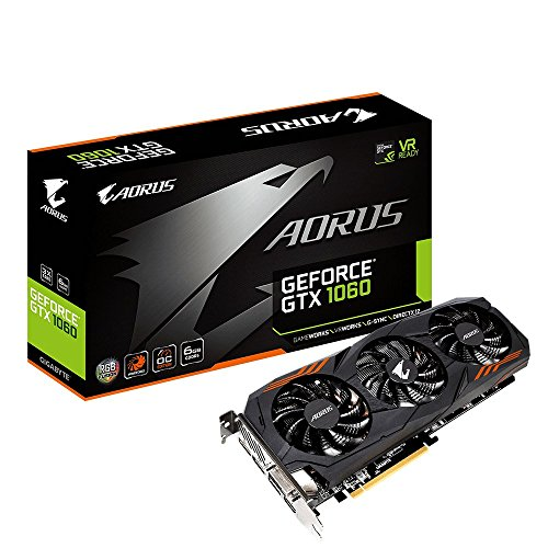 Gigabyte AORUS GeForce GTX 1060 6G REV 2.0 Computer Graphics Card – GV-N1060AORUS-6GD REV2.0