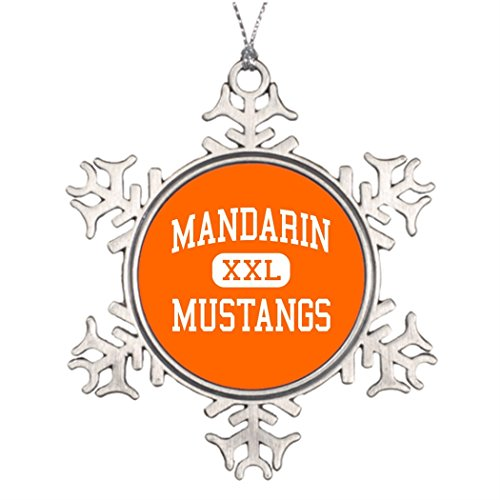Tee popo Best Friend Snowflake Ornaments Mandarin Mustangs Jersey Mandarin - Mustangs - High - Jacksonville Florida Family Snowflake (Cute Halloween Fundraising Idea)