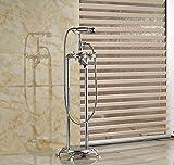 GOWE Floor Mount Clawfoot Bathroom Bathtub Filler Tub Faucet W/Handshower Free Standing