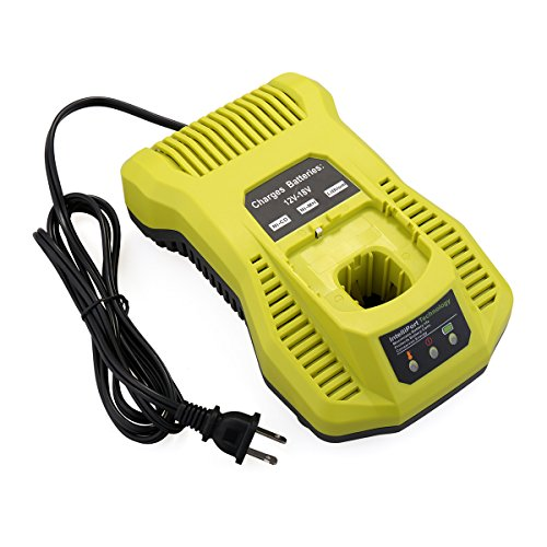 Biswaye Dual Chemistry Battery Charger P117 P118 for Ryobi 12V 18V One+ Plus NiCd NiMh Lithium Battery P100 P101 P102 P103 P105 P107 P108 P200 1400670 ()