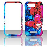 2D Pk Red Butterfly Motorola Photon Q LTE XT897 Sprint Case Cover Phone Snap on Cover Case Faceplates
