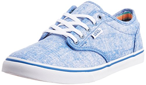 Vans Men's Atwood Low Printed Canvas Cobalt and White Canvas...