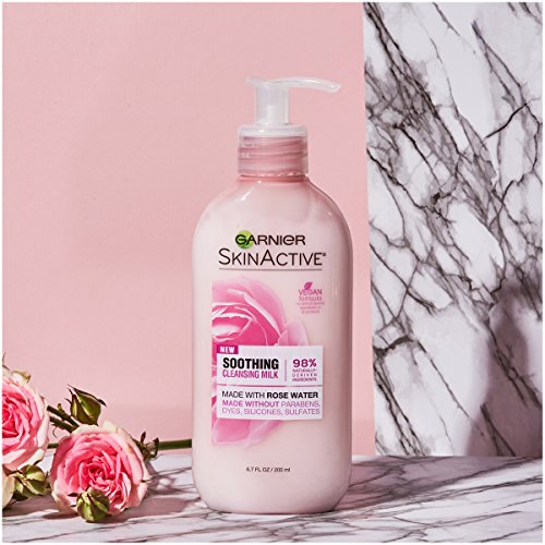 Garnier SkinActive Milk Face Wash with Rose Water, 6.7 Fl Oz (Pack of 1)