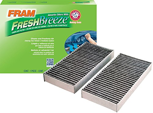 FRAM CF10135 Fresh Breeze Cabin Air Filter with Arm & Hammer (Pack of 2) by Fram