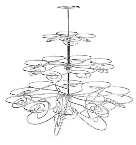 Charmed 4 tier cupcake stand holds 23 cupcakes