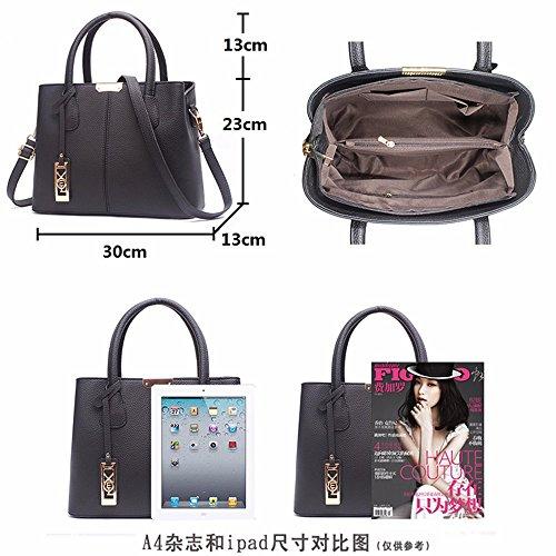 MSZYZ Urlaub Geschenke Tasche Handtasche mit großer Kapazität einzelne Schultertasche Grau