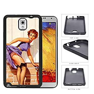 Pin Up Model Water Tease Pose Rubber Silicone TPU Cell Phone Case Samsung Galaxy Note 3 III N9000 N9002 N9005