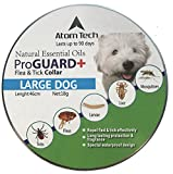 Dog Flea Treatment Collar - [New 2017 Version] Flea and Tick Collar for Large Dogs and Puppies - Best Natural Pet Protection Kills, Repels, & Prevents Fleas, Pests, Insects GUARANTEE for 3 Months - Waterproof