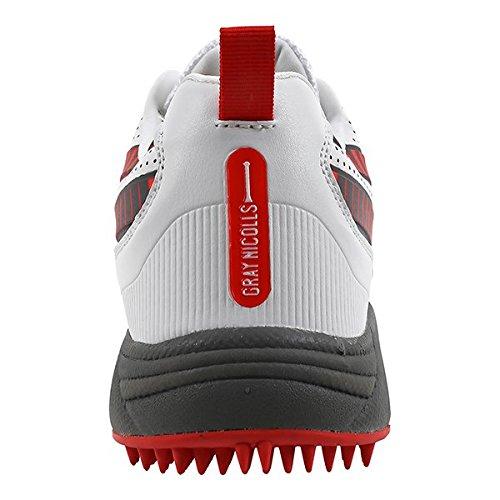 Zapatillas De Bateo Gray Nicolls Gn1000 Pro, Blancas / Rojas