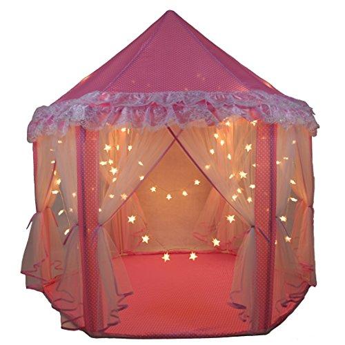 SkyeyArc Princess Castle Play Tent With 34 Feet 100 Led Star