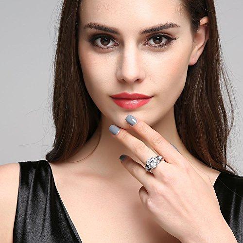 Stil Verlobungs Ring Ring Synthetischer Diamant Damenring Gothic