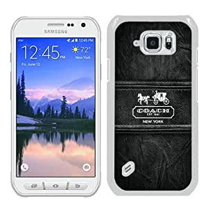Popular Samsung Galaxy S6 Active Cover Case ,Coach 86 White Samsung Galaxy S6 Active Case Newest And Unique Designed Phone Case