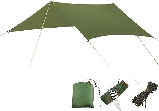 TRIWONDER Lona de Tiendas de Campaña Impermeable Portátil Toldo Camping Refugio con Accesorios para Playa Picnic al Aire Libre