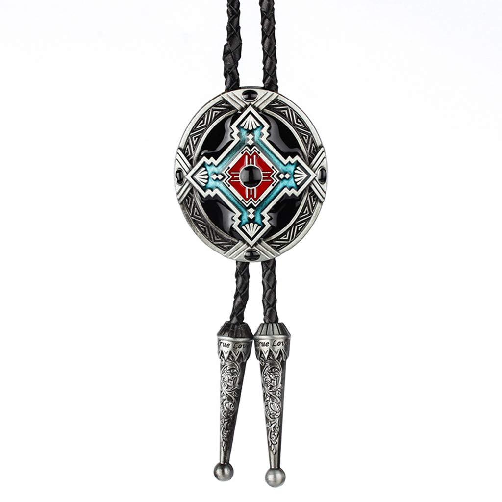 JINGJING Retro Totem Bolo Tie Produccion Artificial Clip de ...