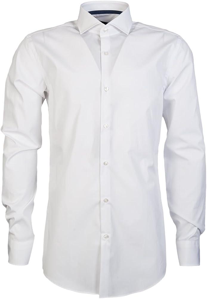 BOSS Hugo Boss - Camisa Formal - para Hombre, Blanco (Blanco), 40 EU: Amazon.es: Zapatos y complementos