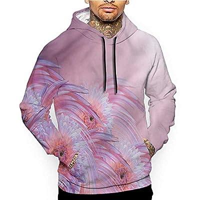 Unisex 3D Novelty Hoodies Floral,Romantic Soft Colored Plant,Sweatshirts for Women Plus Size