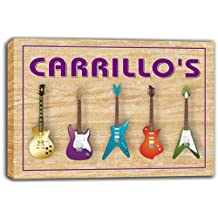 scqp1-1675 CARRILLO'S Guitar Weapon Band Music Room Stretched Canvas Print Sign