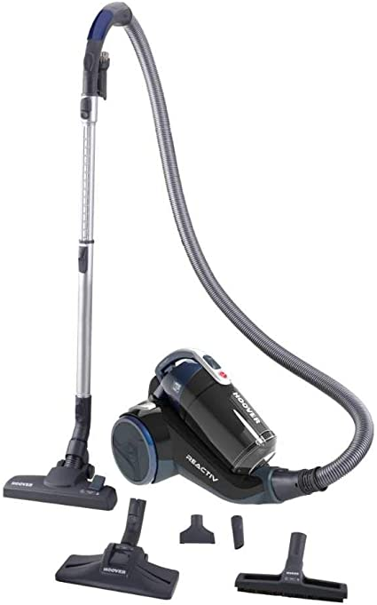 Hoover Reactiv RC50PAR - Aspirador sin bolsa con filtro EPA, con accesorio especial para parquet, tecnología ciclónica, 550 W, color azul: Hoover: Amazon.es: Hogar