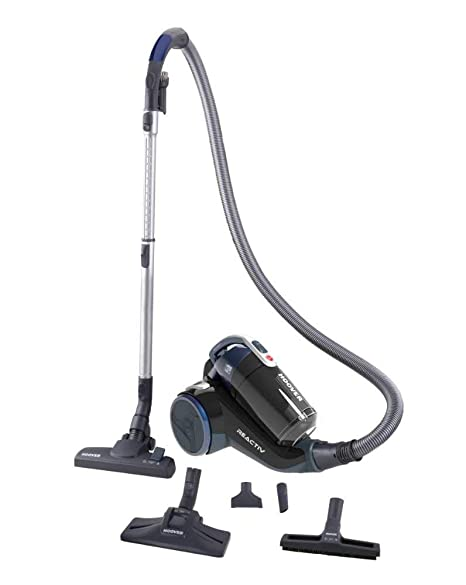 Hoover Reactiv RC50PAR - Aspirador sin bolsa con filtro EPA, con accesorio especial para parquet, tecnología ciclónica, 550 W, color azul