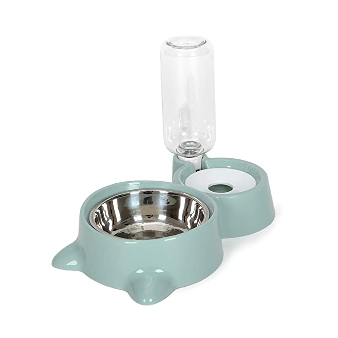 Jellbaby Cuenco Doble de Acero Inoxidable para Mascotas para Comida de Perro o Gato