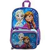 Brand New Disney Frozen Elsa Anna Backpack Matching Lunchbox Set Baby Blue