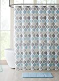 #1: VCNY Home Universal Bathroom Fabric Shower Curtain for Men or Women: Muted Tones of Blue and Grey
