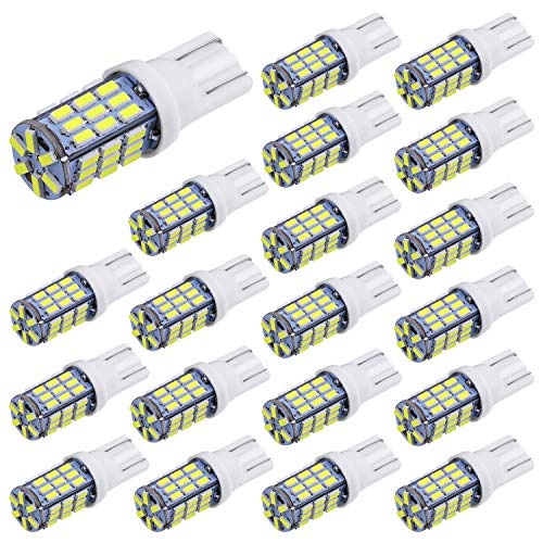 ight RV Trailer T10 921 194 42-SMD 12V Car Backup Reverse LED Lights Bulbs Light Width Lamp Xenon White ()