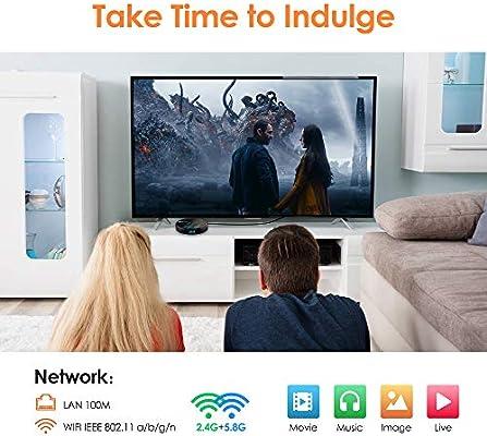 LFYPSM Red Smart TV Box Smart Android TV Box Set Top Box Reproductor Multimedia Android 9.0 Admite Múltiples Conexiones,32G: Amazon.es: Hogar