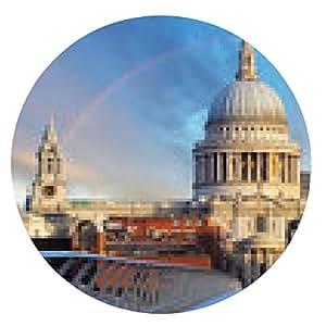 alfombrilla de ratón Londres - Catedral de San Paiul, Reino Unido - ronda - 20cm