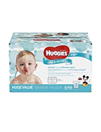 HUGGIES One and Done Refreshing Baby Wipes, Refill Pack (3-Pack, 648 Sheets Total), Scented, Alcohol-free, Hypoallergenic BOBEBE Online Baby Store From New York to Miami and Los Angeles