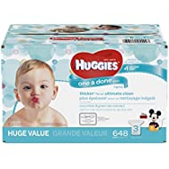 HUGGIES One and Done Refreshing Baby Wipes, Refill Pack...