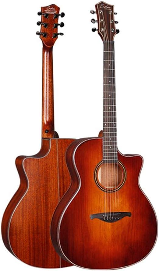 HO-TBO Guitarra, Guitarra Popular Retro 41 Pulgadas Barril de ...