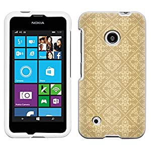 Nokia Lumia 530 Victorian Pattern Beige Case
