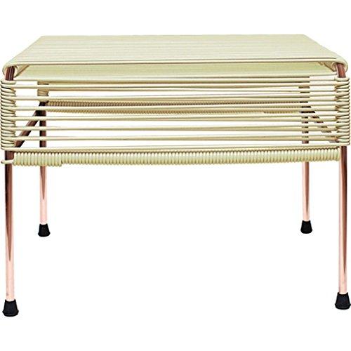 Innit Designs Atom Ottoman | Copper Base - Ivory