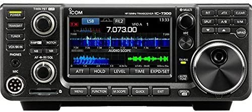 Bundle and Ham Guides Pocket Reference Card Icom IC-7300 HF//50 MHz Base Transceiver with Touch Screen Color TFT LCD 2 Items 100 Watts