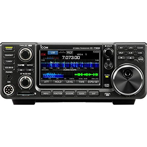 Icom IC-7300 HF/50 MHz Base Transceiver with Touch Screen Color TFT LCD, 100 Watts, and Ham Guides Pocket Reference Card Bundle by Icom (Image #1)