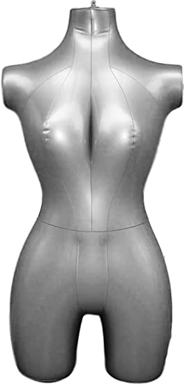 Inflatable Female Mannequin Bust Dress Display Dummy Torso Clothes Models