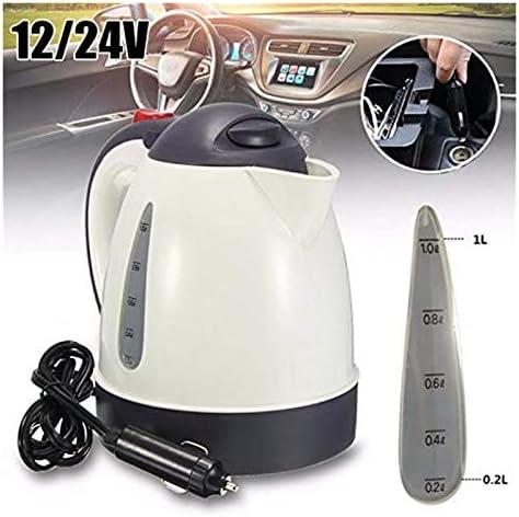 Bouilloire Bouilloire eau chaude Boiled chauffe for grande capacité en acier inoxydable Thé de camion véhicule (Color Name : 12V)