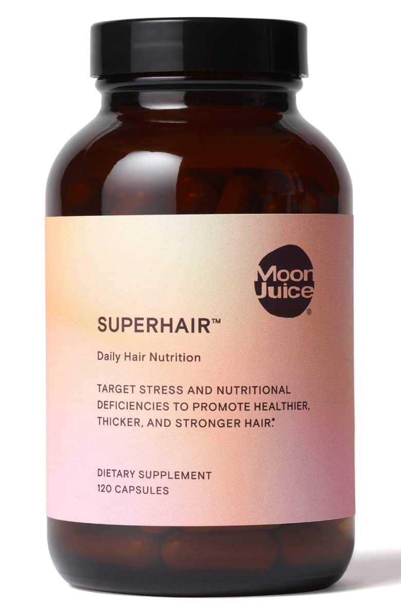 Moon Juice SuperHair Daily Hair Nutrition! Bioactive Multi-Vitamins, Minerals, Plant Extracts, and Hair Essentials! Non GMO, Vegan, Gluten-Free! Promote Healthier, Thicker and Stronger Hair!
