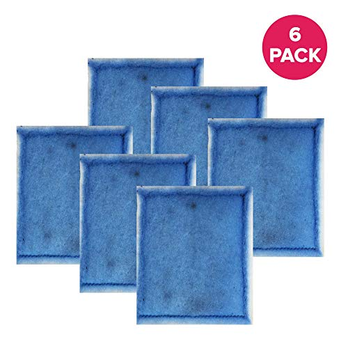 Think Crucial Air Filter Replacement Parts Compatible with Aqua-Tech EZ-Change # 3 Aquarium Filter Cartridge Replacement-Fits Aqua-Tech 20-40 and 30-60 Power Filters-Perfect Home Purifier (6 Pack)