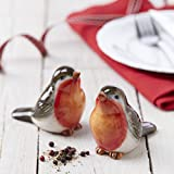 Robin Salt and Pepper Shakers, by Gisela Graham, great gift for all who love Robins!