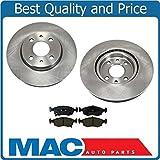 Mac Auto Parts 144619 Fiat 5 Non Turbo (2) Frt Brake Disc Rotors & Ceramic Pads 3 CD68