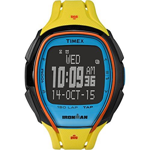 Timex Unisex TW5M00800 Ironman Sleek 150 Tapscreen Yellow Color Block Full-Size Resin Strap Watch