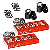 Bones Super Reds Skateboard Bearings, 2 x 8 Packs w/Spacers and Washers