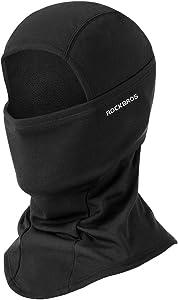 ROCKBROS(ロックブロス)冬用 ネックウォーマー バラクラバ 裏起毛 保温 息苦しくない 目出し帽 スキー サイクリング バイク メンズ