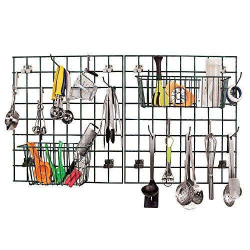 Focus EZ-Wall Green Metal Kitchen Storage Grid/Drying Rack