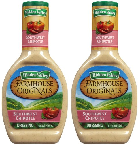 Hidden Valley Farmhouse Originals Salad Dressing & Dip-Southwest Chipotle, 16 oz, 2 pk