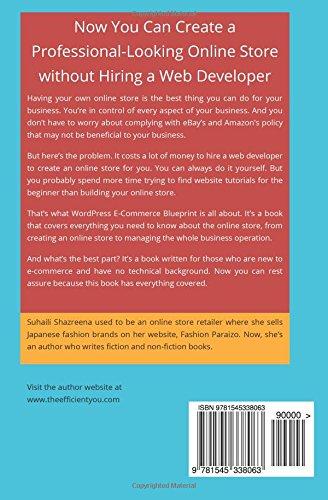 Wordpress e commerce blueprint how to create and manage wordpress wordpress e commerce blueprint how to create and manage wordpress online store for beginner suhaili shazreena 9781545338063 amazon books malvernweather Gallery